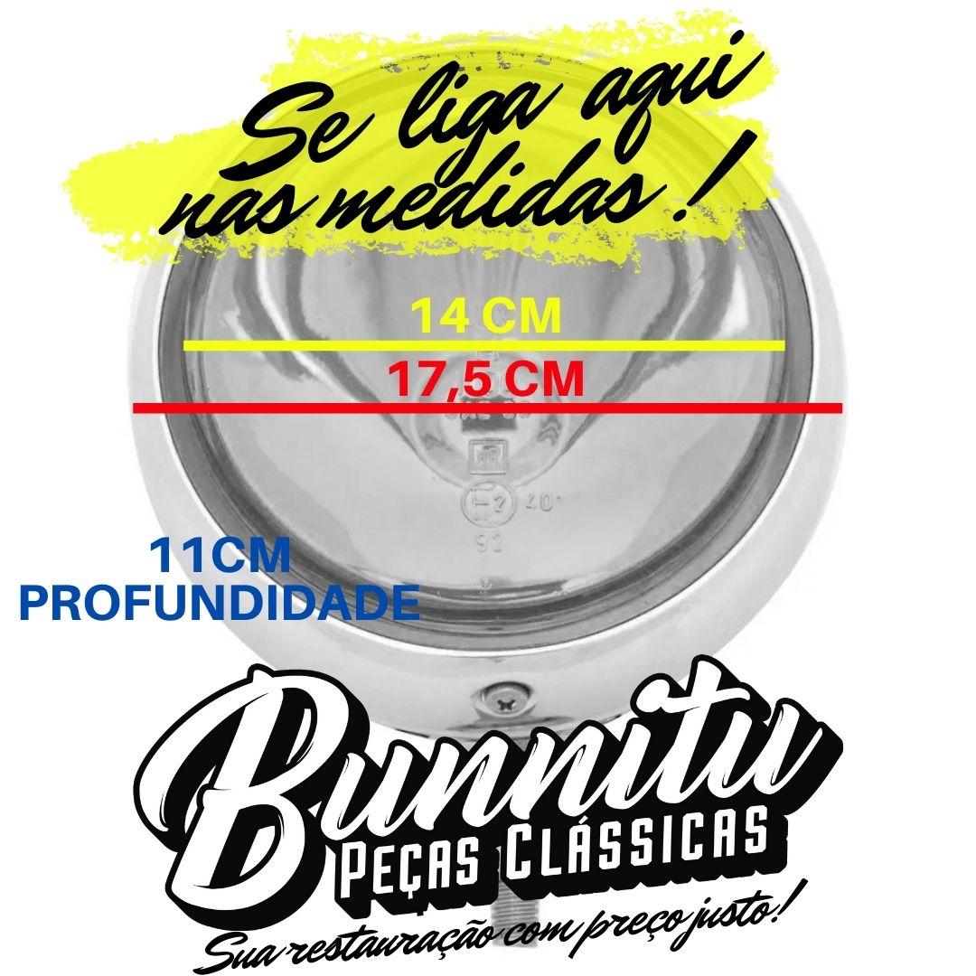 Farol de milha central com lente cristal modelo Super Oscar para MP Lafer  - Bunnitu Peças e Acessórios