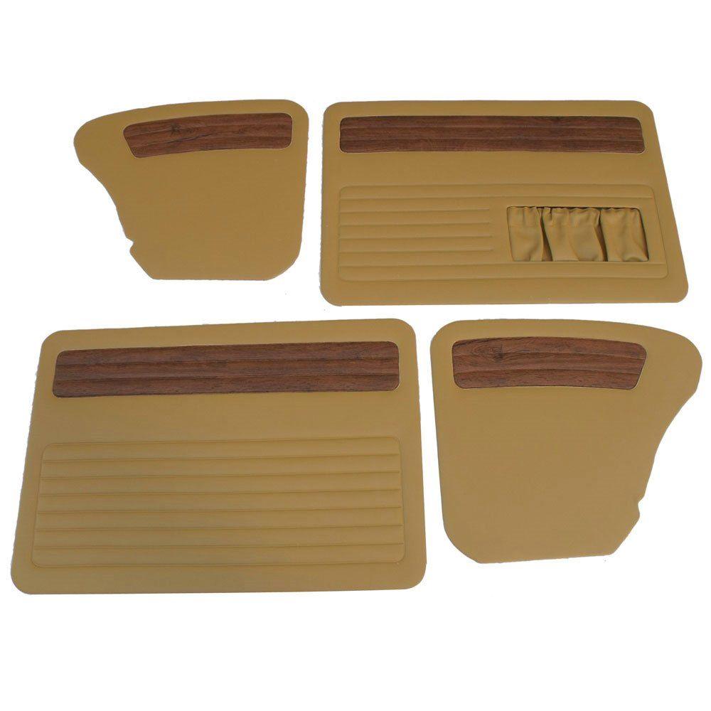 Forração de porta e lateral na cor caramelo c/ jacarandá para VW Fusca até 1977  - Bunnitu Peças e Acessórios