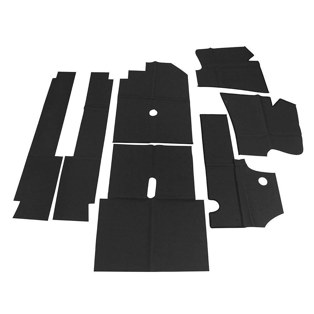 Forração interna passadeira cor preta VW Fusca 1960 à 1970 - Sem extintor  - Bunnitu Peças e Acessórios