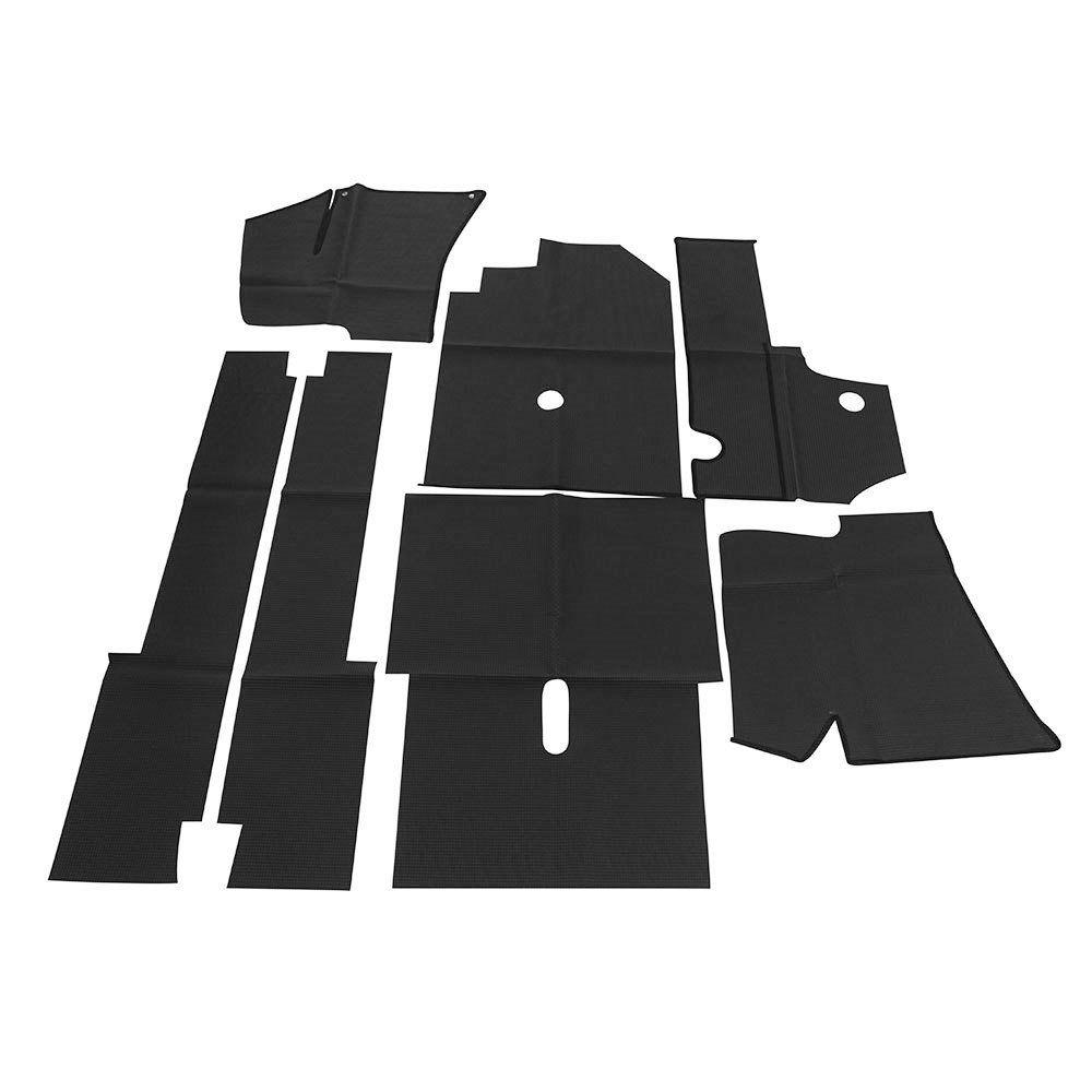 Forração interna passadeira na cor preta para VW Fusca 1971 à 1974  - Bunnitu Peças e Acessórios