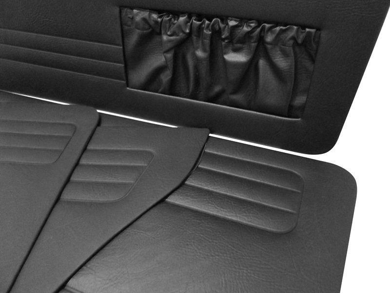 Forração lateral na cor preta para VW Brasilia até 1977  - Bunnitu Peças e Acessórios