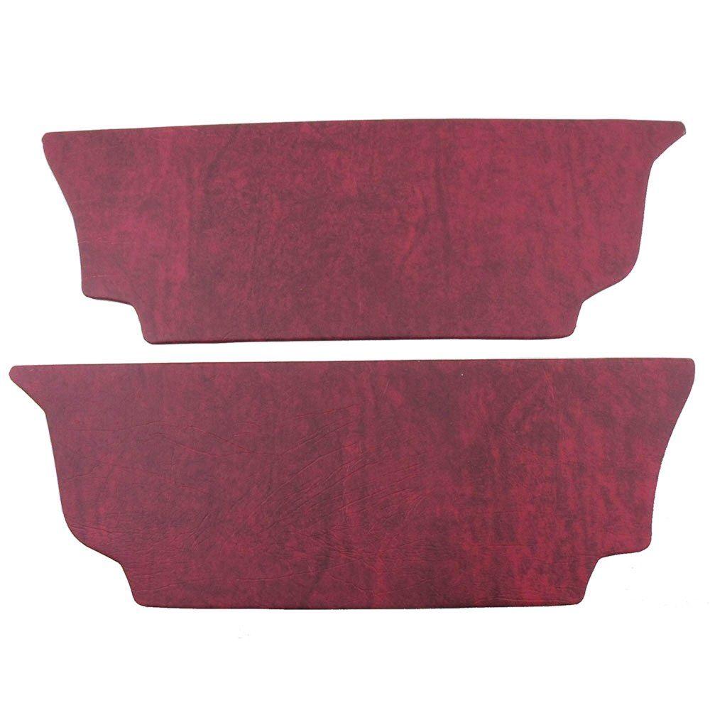Forração rodapé do banco traseiro na cor vermelho para VW Fusca  - Bunnitu Peças e Acessórios