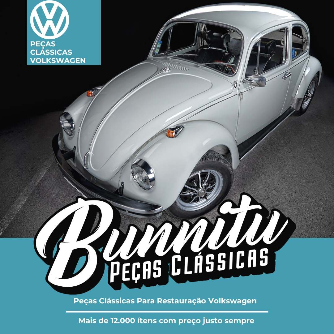 Friso Alumínio com Borracha Pestana Externa Janela Porta VW Fusca - Lado do Motorista  - Bunnitu Peças e Acessórios