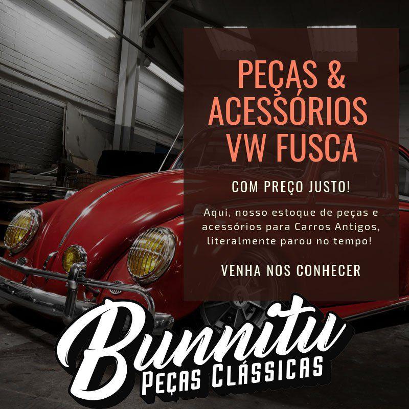 Friso de acabamento da saída de ar do painel para VW Fusca até 1972  - Bunnitu Peças e Acessórios