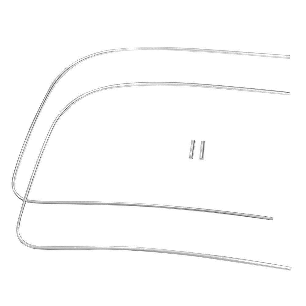 Friso de alumínio para borracha do parabrisa VW Fusca  - Bunnitu Peças e Acessórios