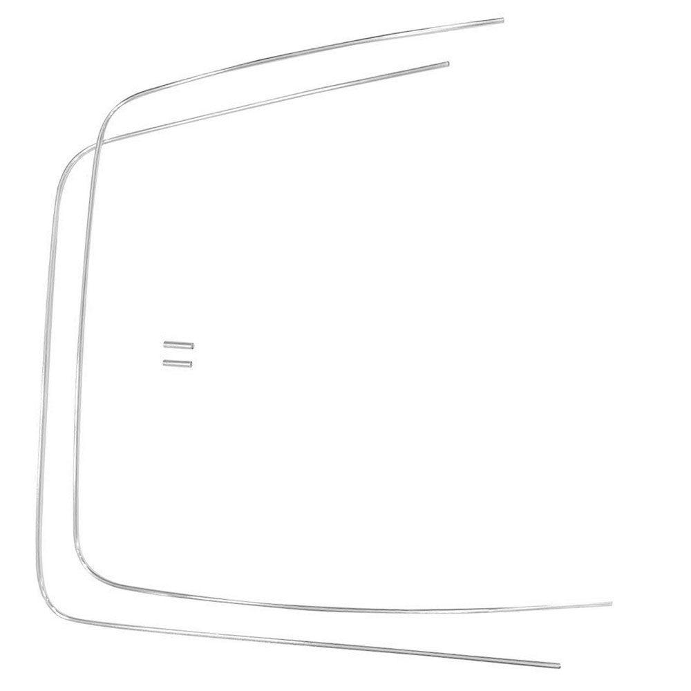Friso de alumínio para borracha do vidro parabrisa do VW SP2  - Bunnitu Peças e Acessórios