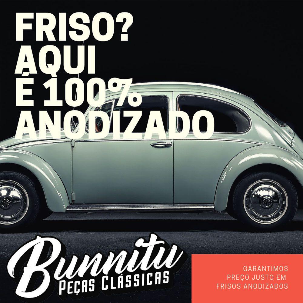 Friso original do estribo para VW Fusca até 1970 - Modelo Frisado  - Bunnitu Peças e Acessórios