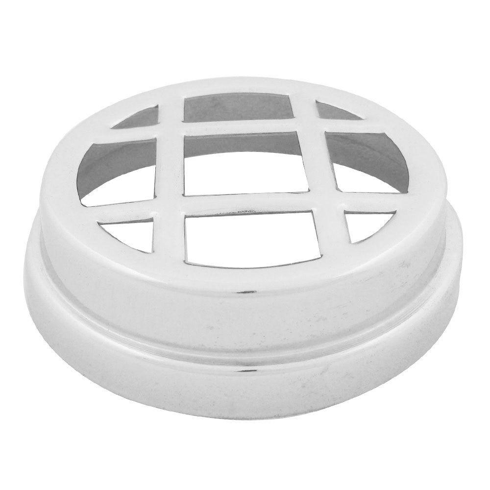 Grade cromada para farol auxiliar milha com 9 cm de diâmetro  - Bunnitu Peças e Acessórios