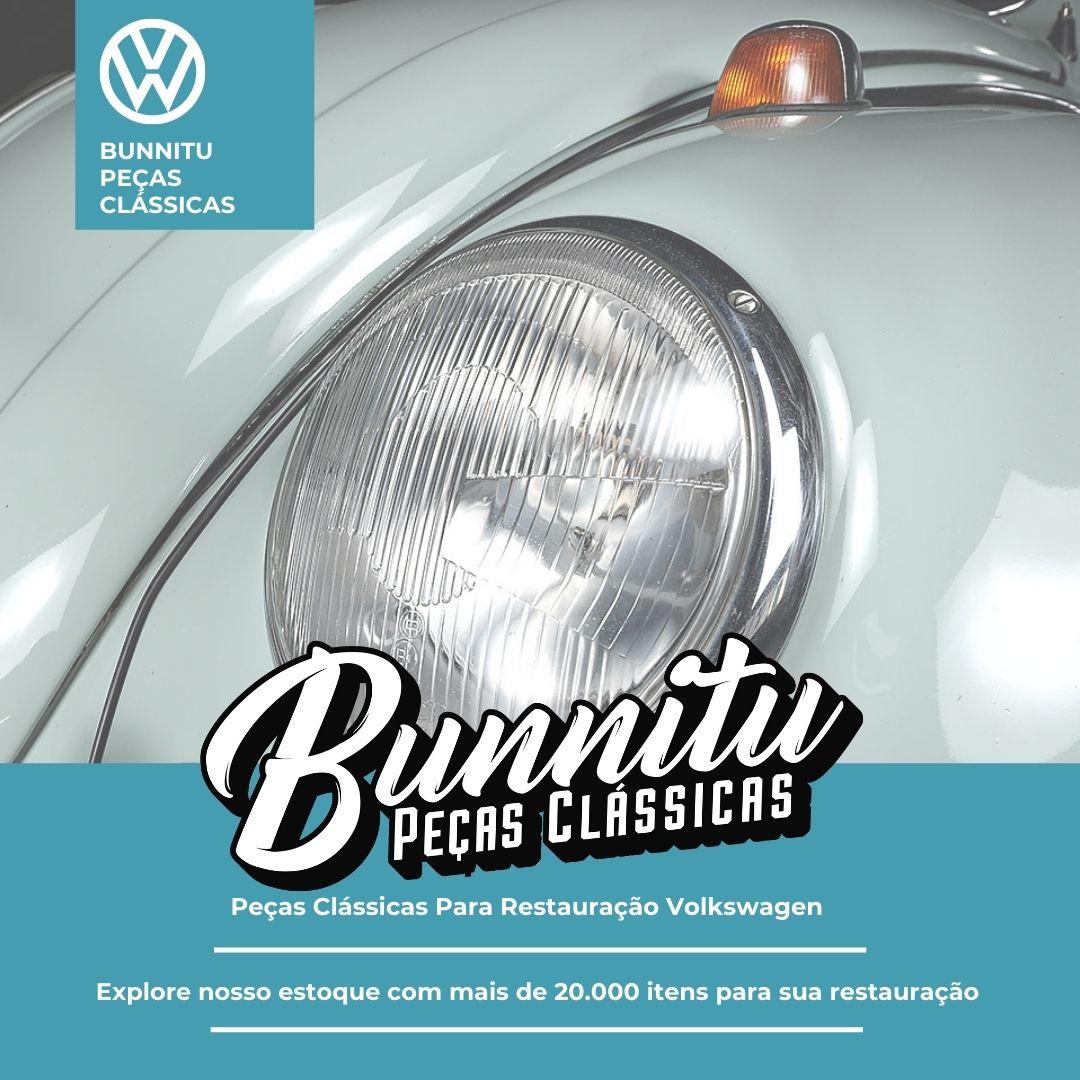 Grade Tela Horizontal Farol Olho de Boi VW Fusca até 1972 Kombi até 1975  - Bunnitu Peças e Acessórios