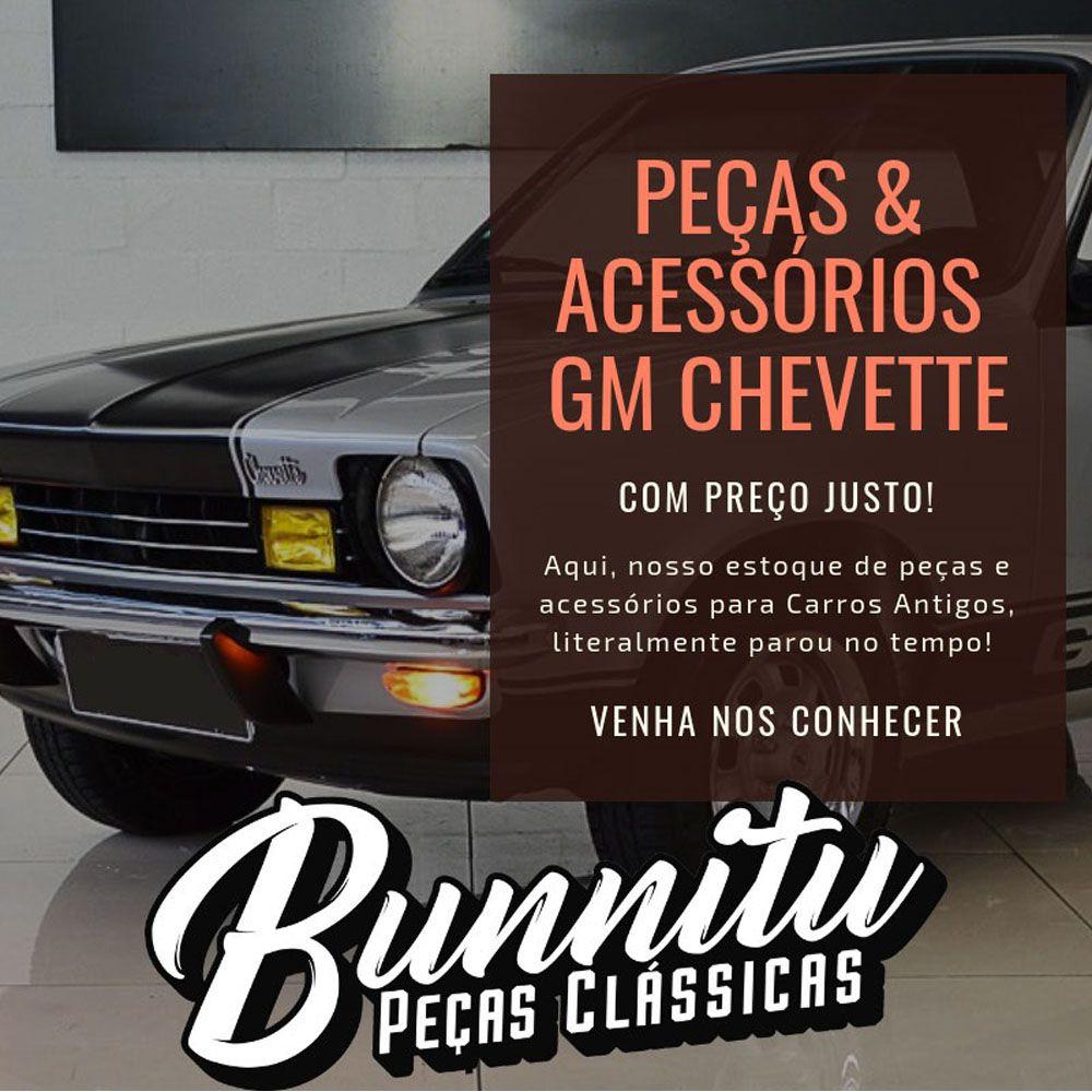Guarnição borracha de vedação do parabrisa modelo com encaixe do friso para GM Chevette  - Bunnitu Peças e Acessórios