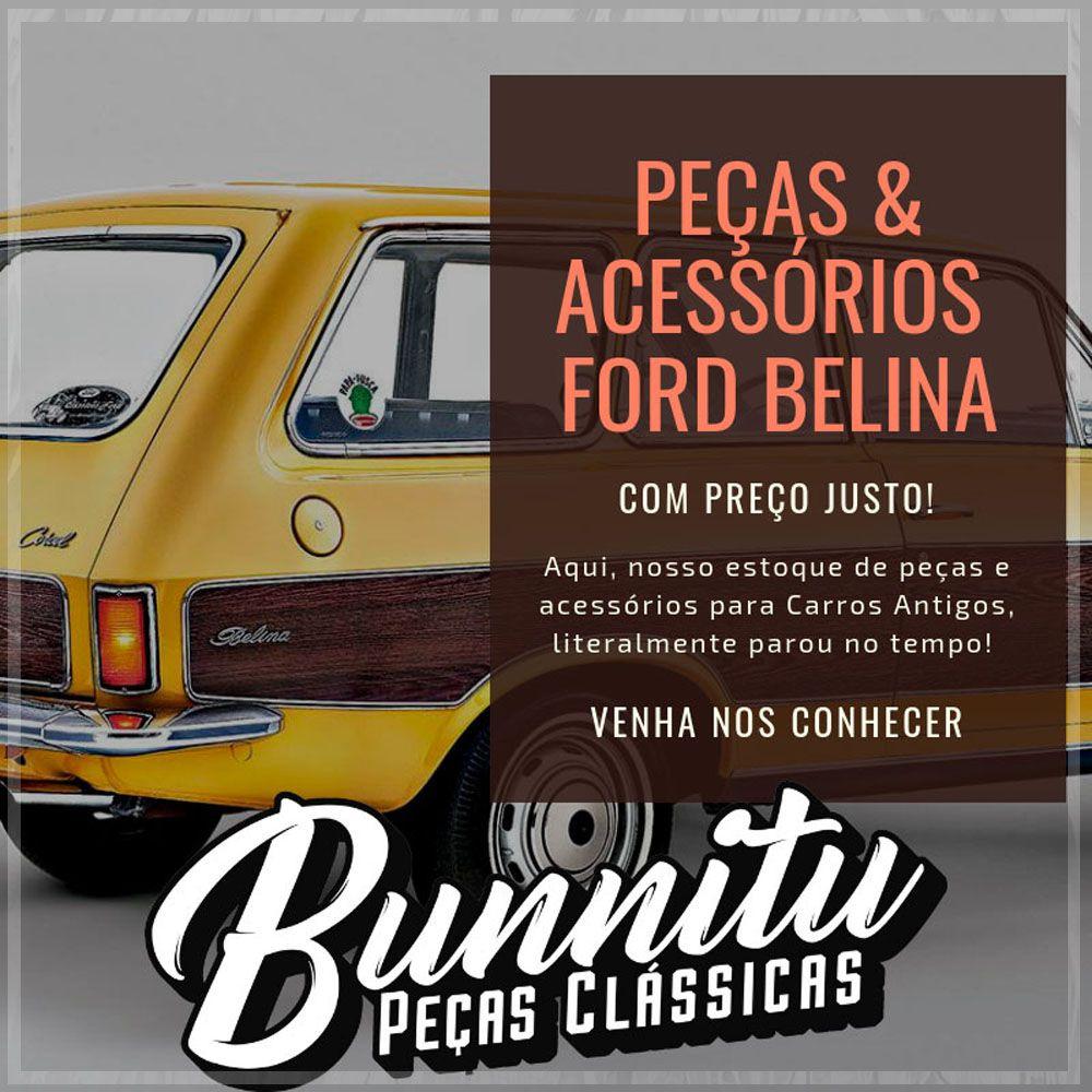 Guarnição borracha do vidro da janela lateral fixa para Ford Belina I até 1977 - Lado do Passageiro  - Bunnitu Peças e Acessórios