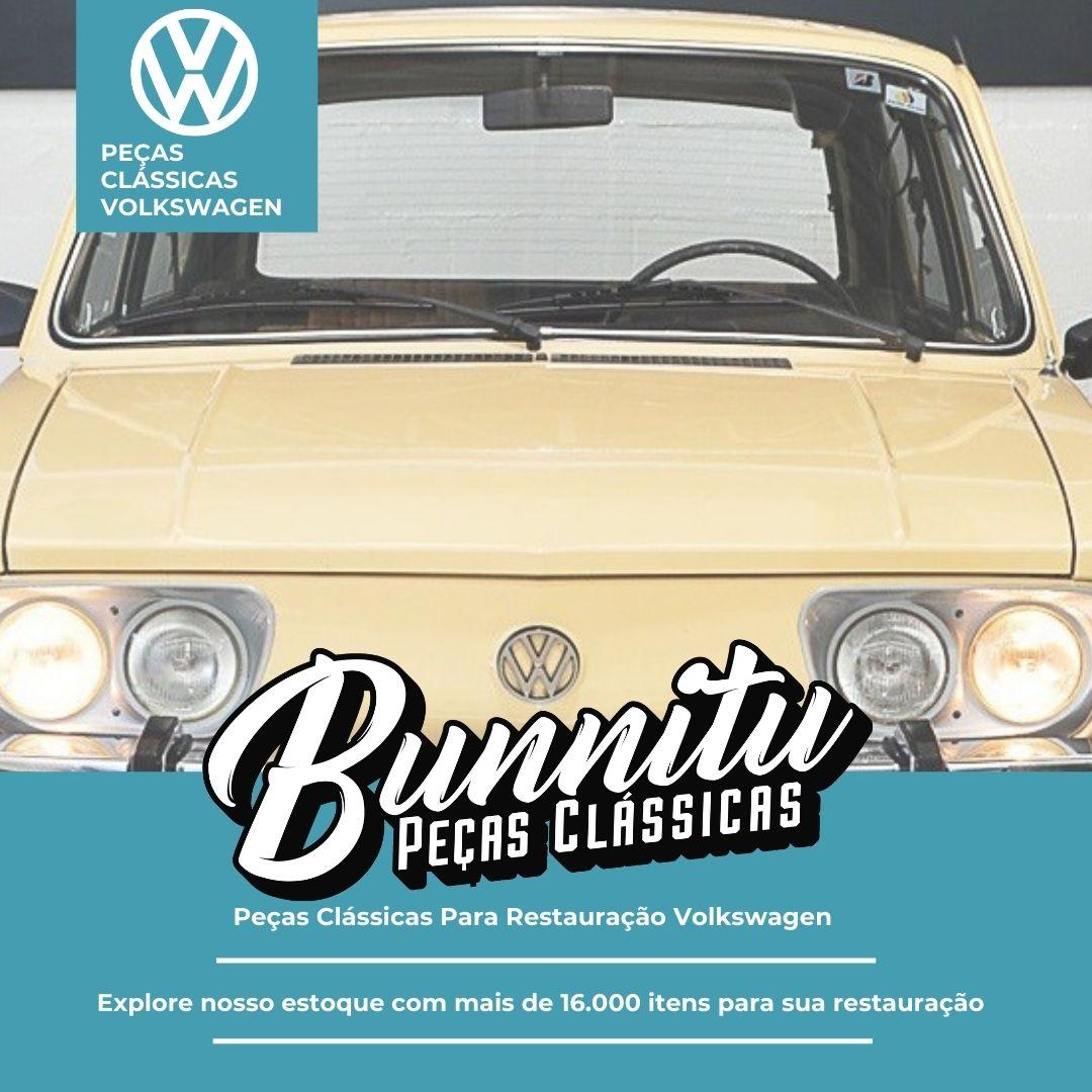Guarnição Borracha Quebra Vento VW Brasília 1973 à 1977 - Lado Passageiro  - Bunnitu Peças e Acessórios