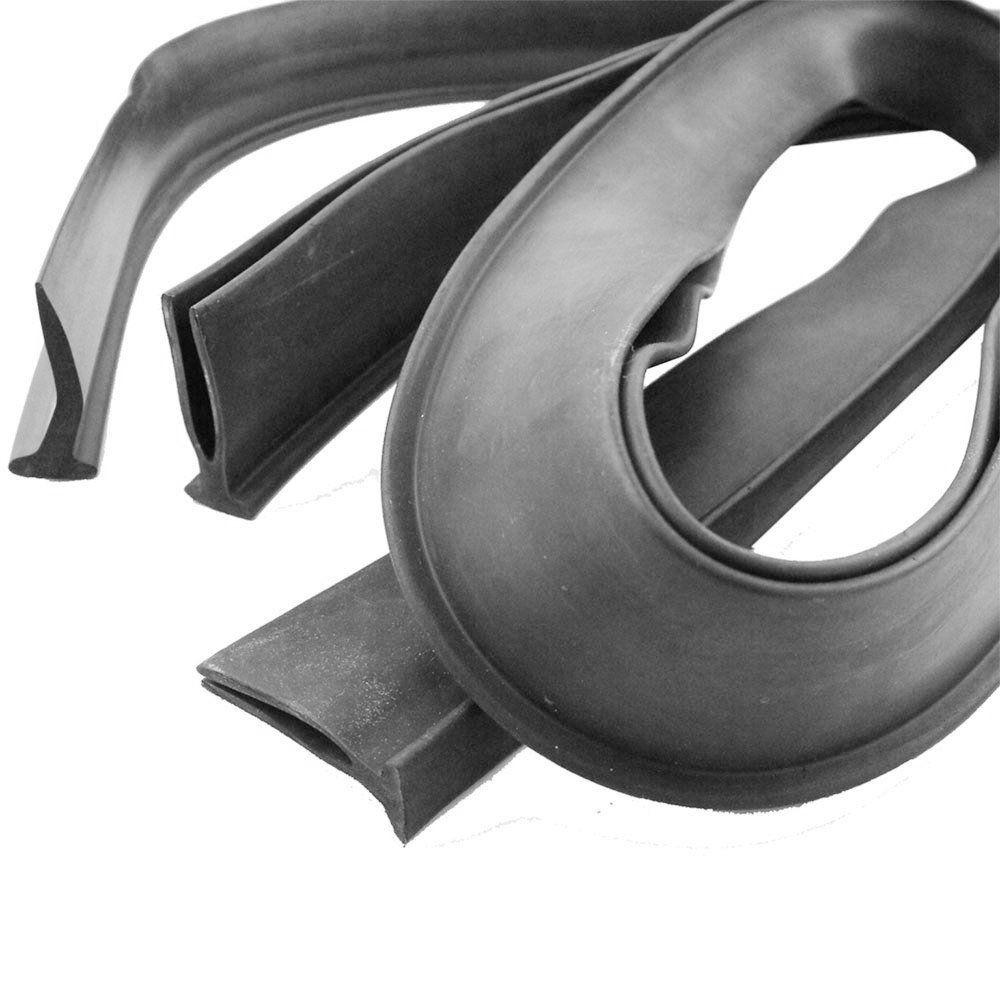 Guarnição de Borracha reta e curva da lataria cofre do motor VW Fusca - Marca Autotravi  - Bunnitu Peças e Acessórios