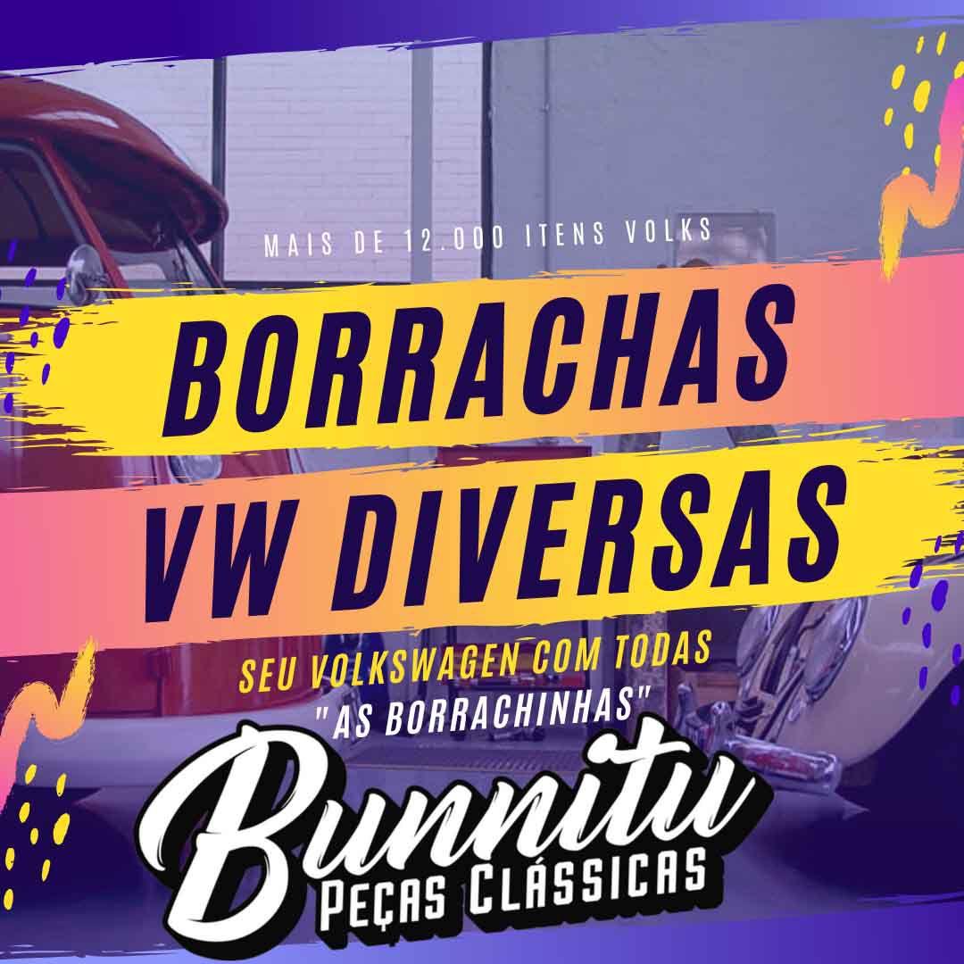 Guarnição interna em borracha para suporte de parachoque VW Brasília  - Bunnitu Peças e Acessórios