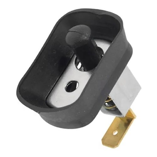 Botão Interruptor Luz Cortesia Pino Curvo Com Guarda Pó VW Fusca Variant Brasília Karmann Ghia  - Bunnitu Peças e Acessórios