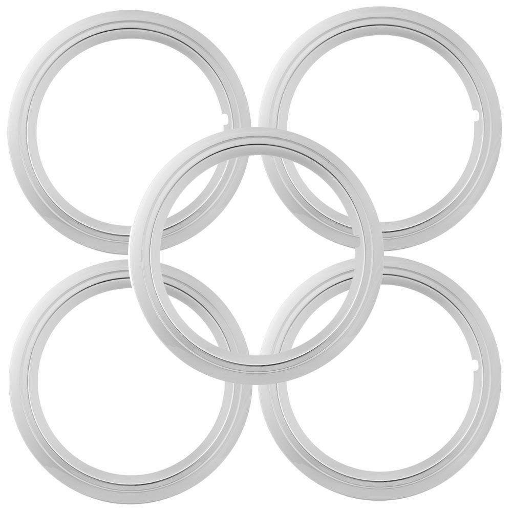 Jogo 5 peças, Sobre Aro em ABS cromado para roda aro 14  - Bunnitu Peças e Acessórios
