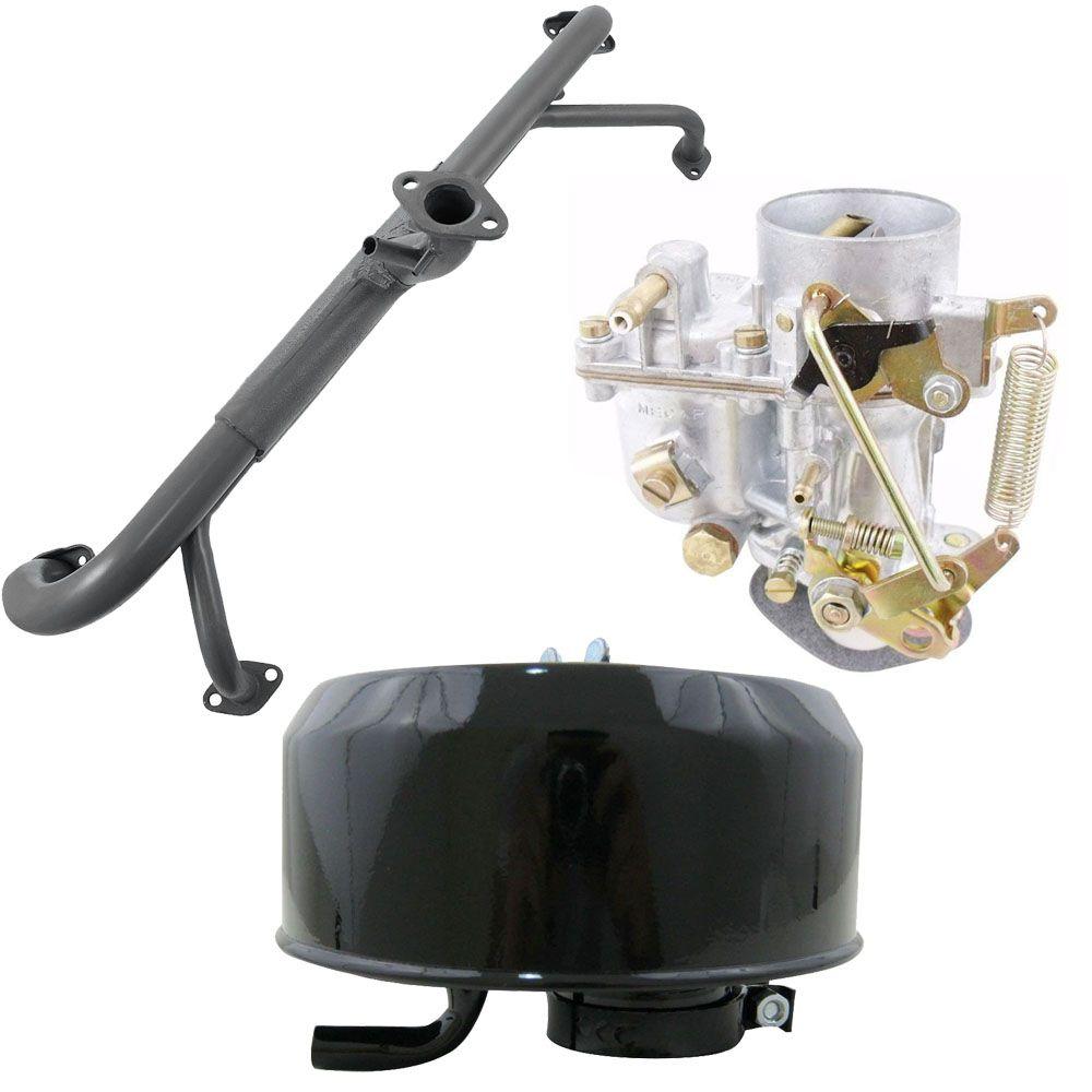 Kit Carburador 30 PIC Novo 1300 + Coletor de admissão Gol BX + Filtro de ar  - Bunnitu Peças e Acessórios