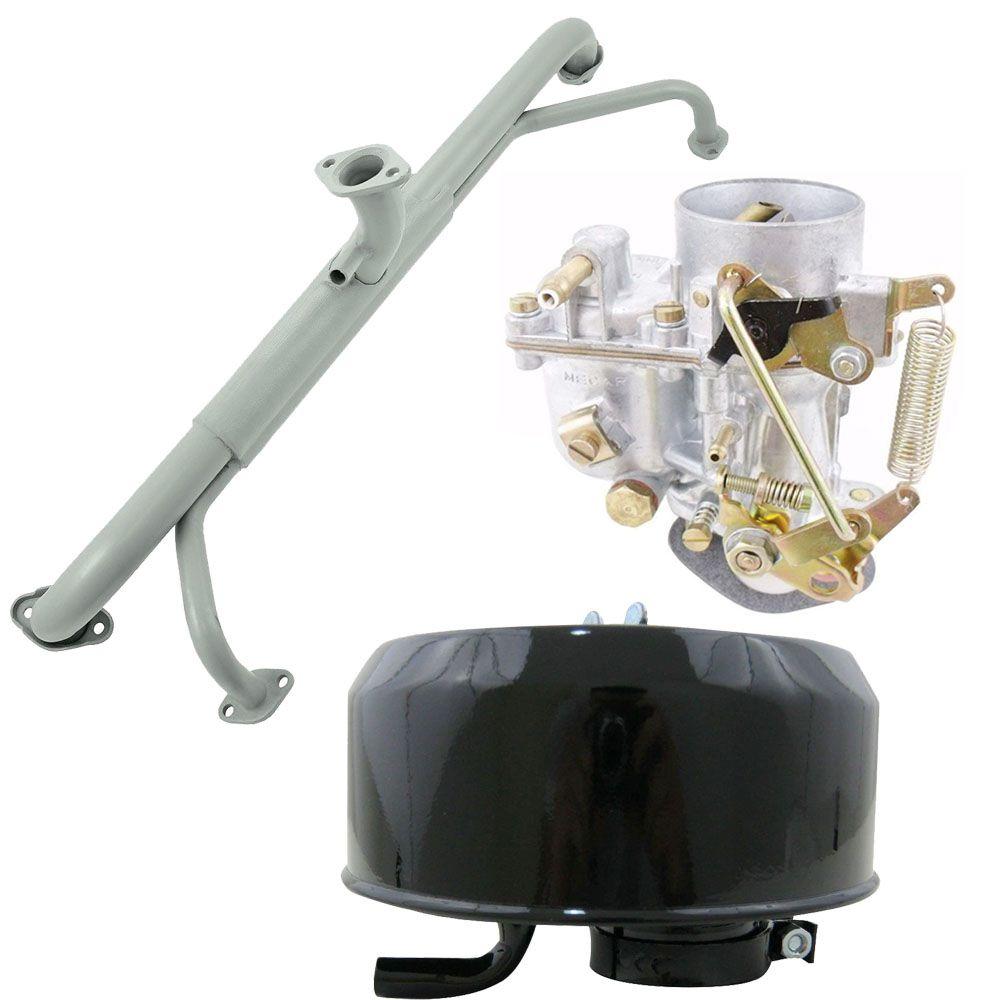 Kit Carburador 30 PIC Novo + Coletor de admissão Kombi 1600 + Filtro de ar a óleo  - Bunnitu Peças e Acessórios