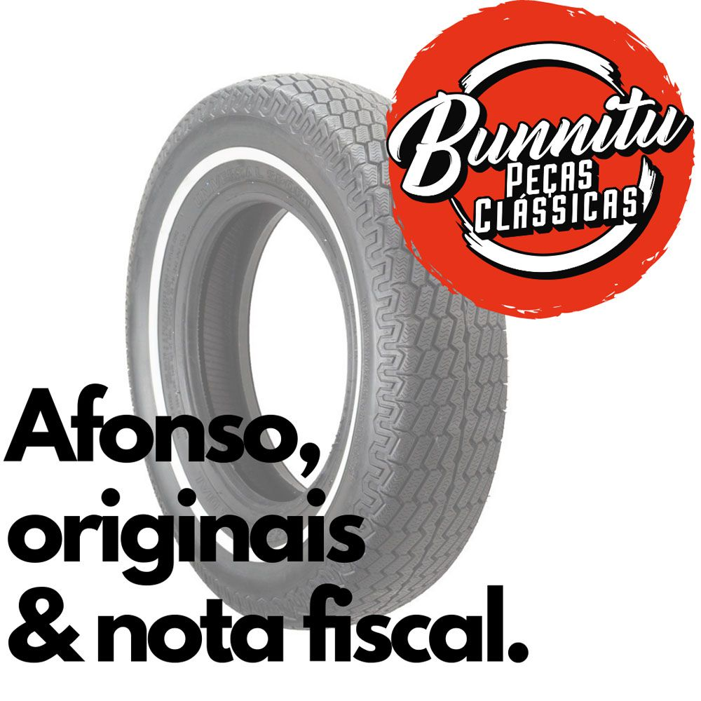 Jogo com 4 bandas faixas brancas filetes para pneu aro 13  - Bunnitu Peças e Acessórios