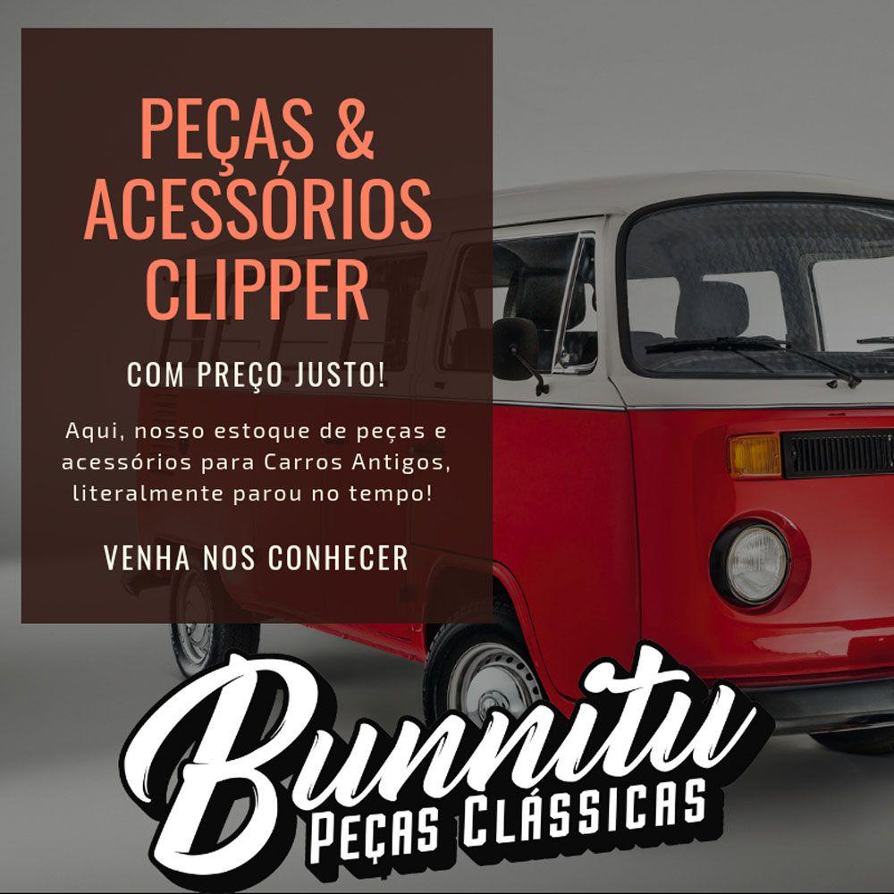 Jogo de borrachas das portas do salão para VW Kombi Clipper 1500 - Jogo com 9 peças  - Bunnitu Peças e Acessórios