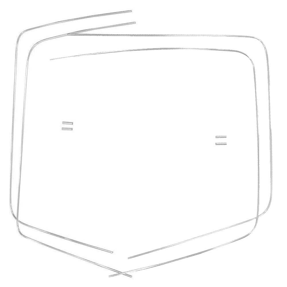 Jogo de Frisos de alumínio parabrisa e vigia VW SP2  - Bunnitu Peças e Acessórios