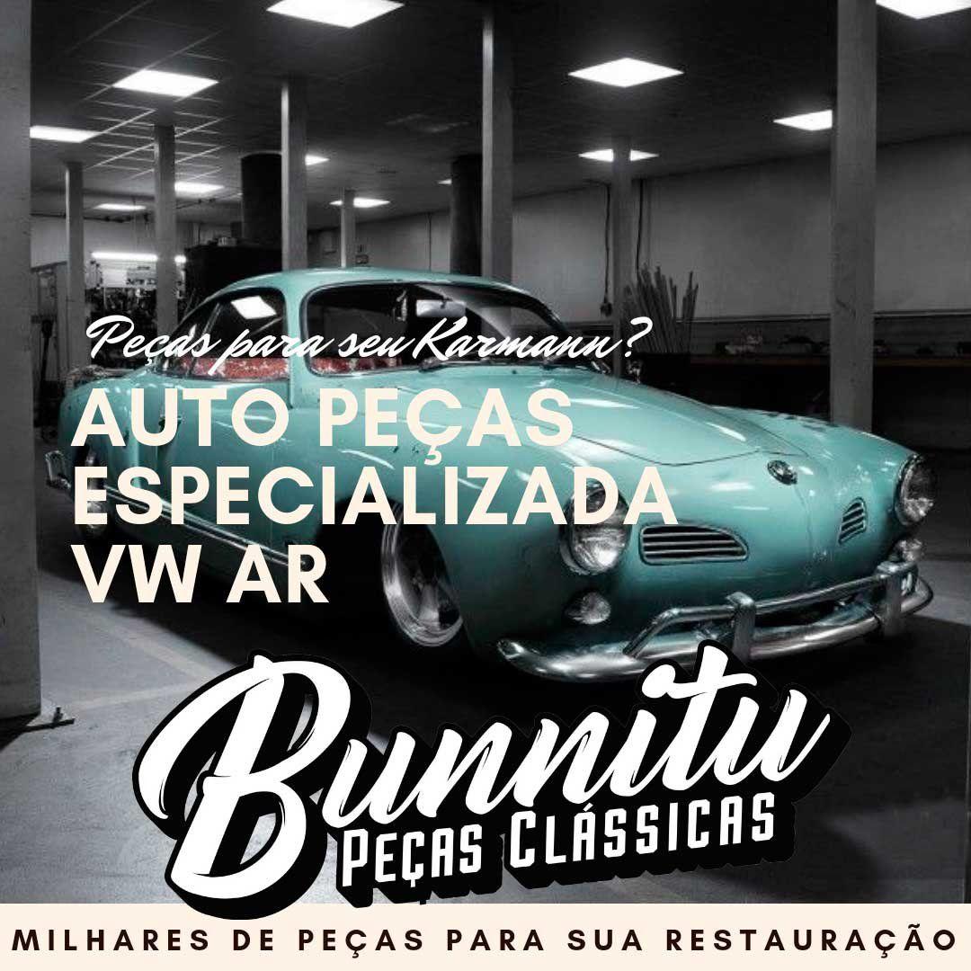 Jogo de frisos laterais internos em alumínio para forração de porta do VW Karmann Ghia até 1969  - Bunnitu Peças e Acessórios