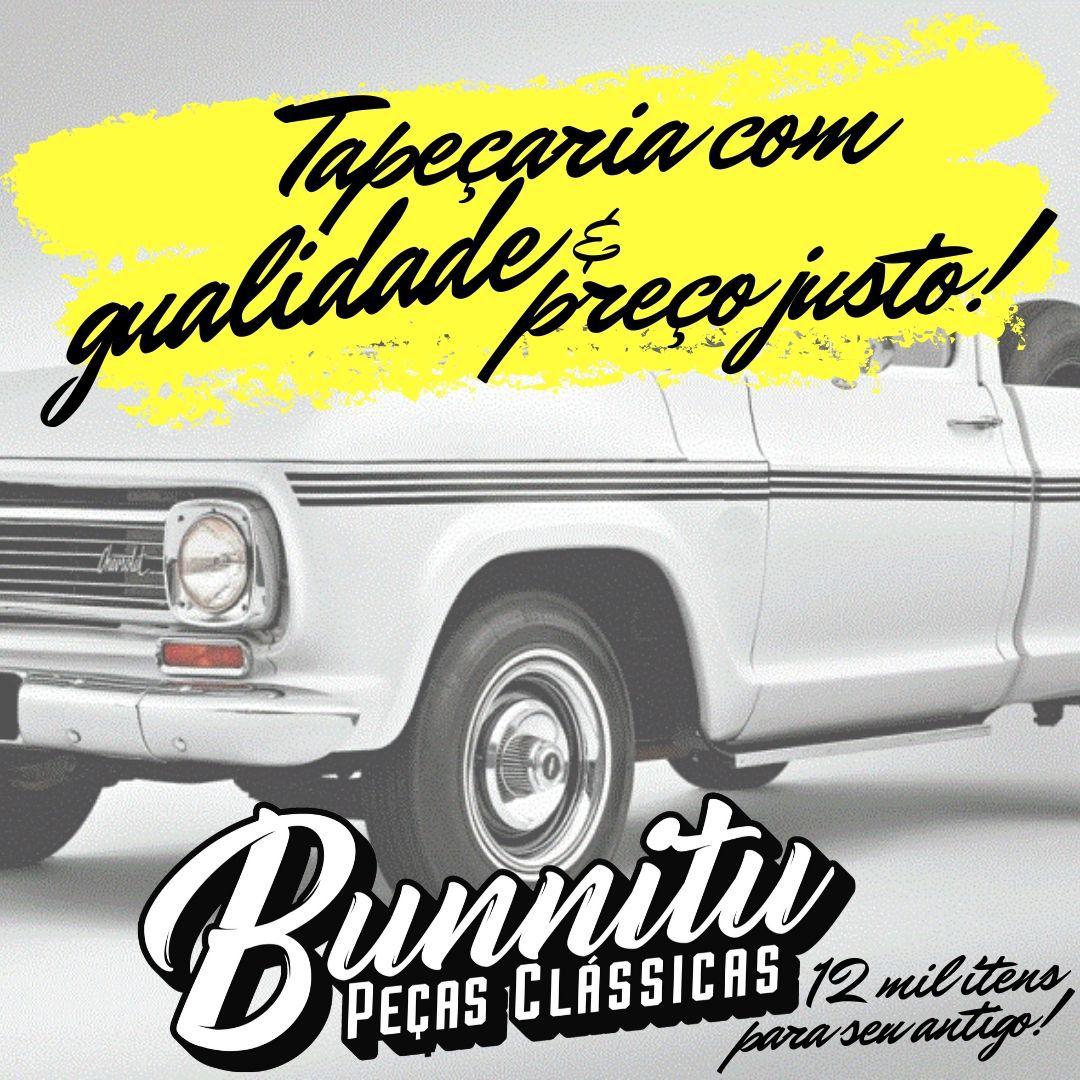 Jogo Forração Porta Dianteira Lateral Cor Preta GM Chevrolet C-10  - Bunnitu Peças e Acessórios