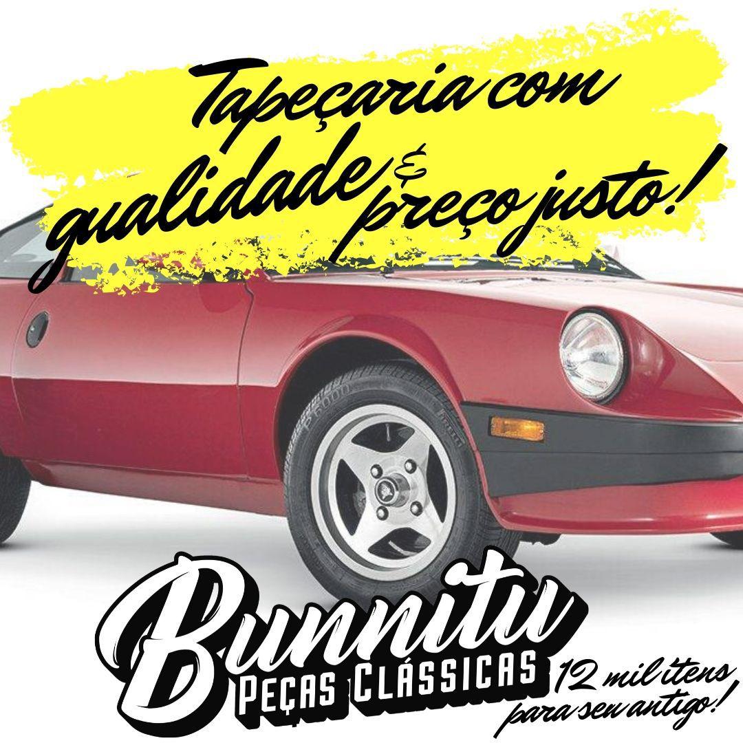 Jogo Forração Porta Dianteira Lateral Cor Preta Puma até 1975  - Bunnitu Peças e Acessórios