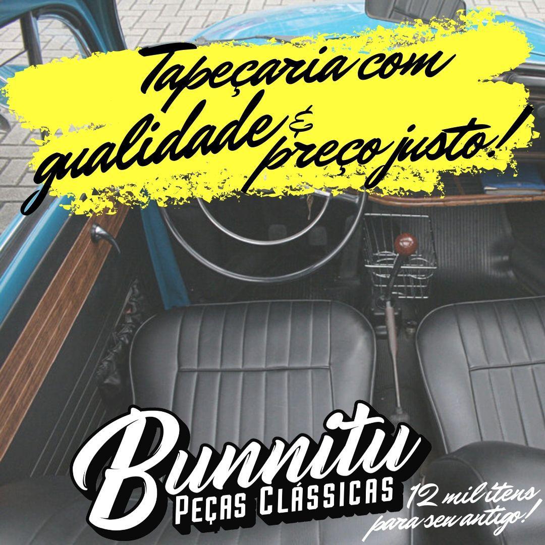 Jogo Forração Porta Dianteira Lateral Traseira Cor Preta e Jacarandá VW Fusca até 1977  - Bunnitu Peças e Acessórios
