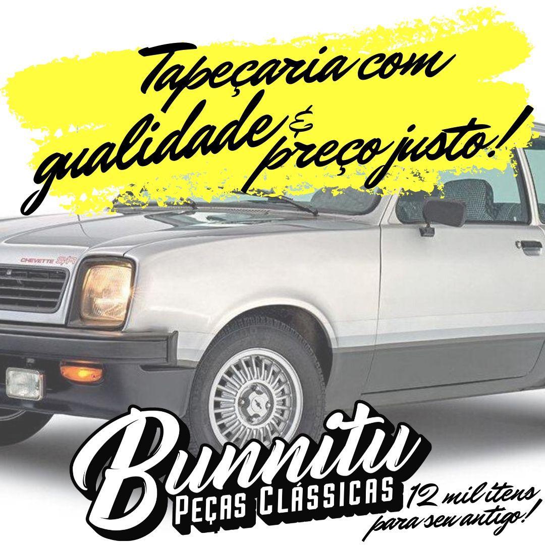 Jogo Forração Porta Dianteira Lateral Traseira Cor Preta GM Chevette 1973 à 1983  - Bunnitu Peças e Acessórios