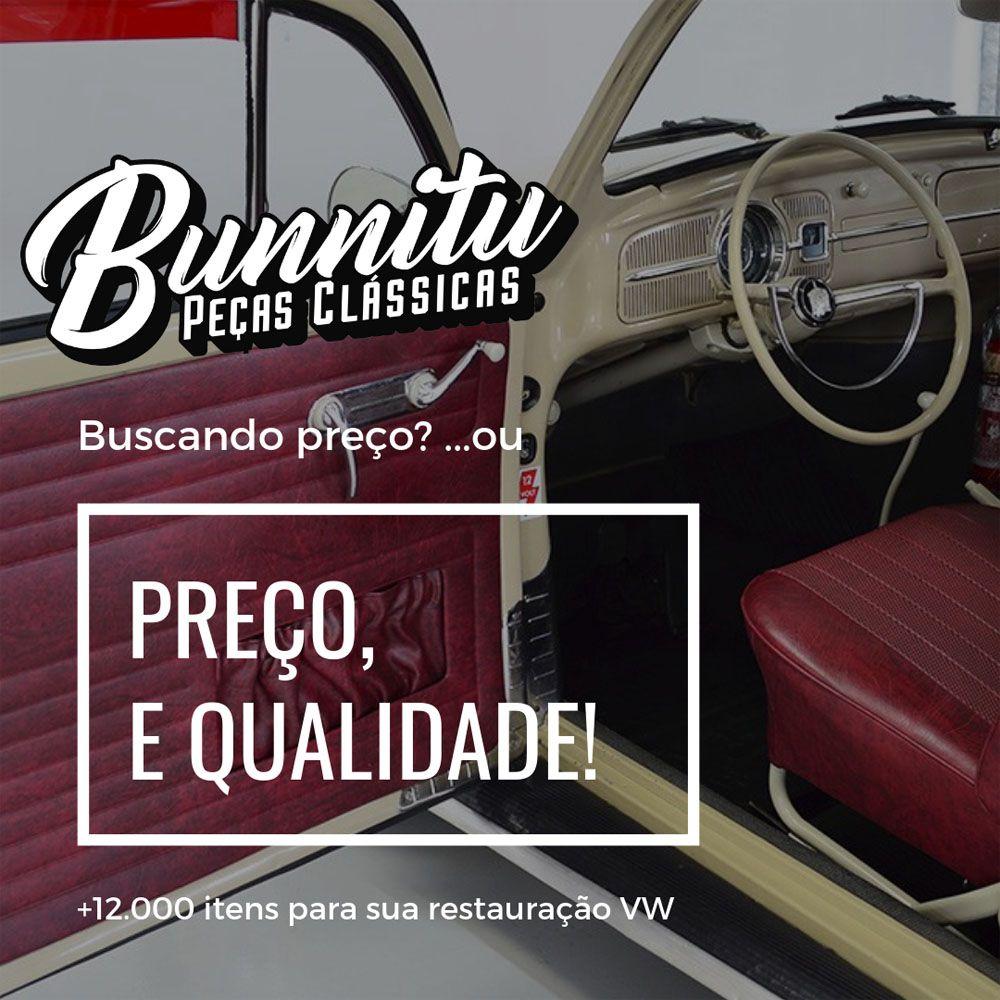 Kit Forração Premium porta/lateral marrom c/friso Fusca 1978/1986 + Kit chupetas e grampos  - Bunnitu Peças e Acessórios