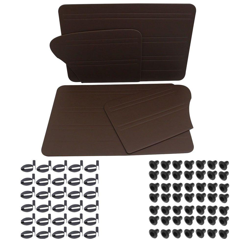 Kit Forração Premium porta/lateral marrom Fusca após 1978 e Itamar + Kit chupetas e grampos  - Bunnitu Peças e Acessórios
