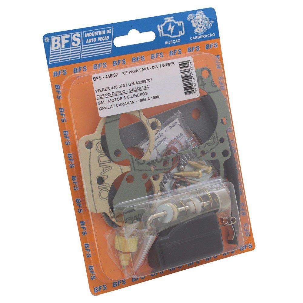 Kit de reparo do carburador DFV / Weber para GM Opala 4 e 6 cil  - Bunnitu Peças e Acessórios