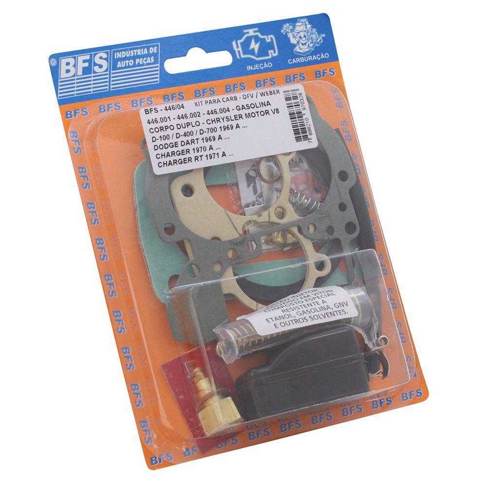 Kit de reparo do carburador para Dodge V8 - DFV / Weber  446  - Bunnitu Peças e Acessórios
