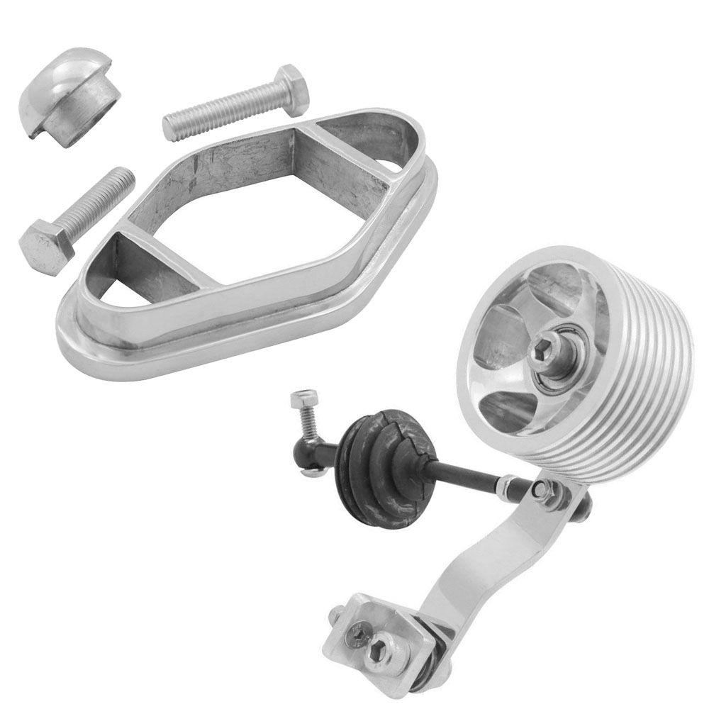 Kit Pedal Rolo Billet C/ 2 Rolamentos Base Acelerador C/ Cambio Jet Quick Shift VW Kombi  - Bunnitu Peças e Acessórios