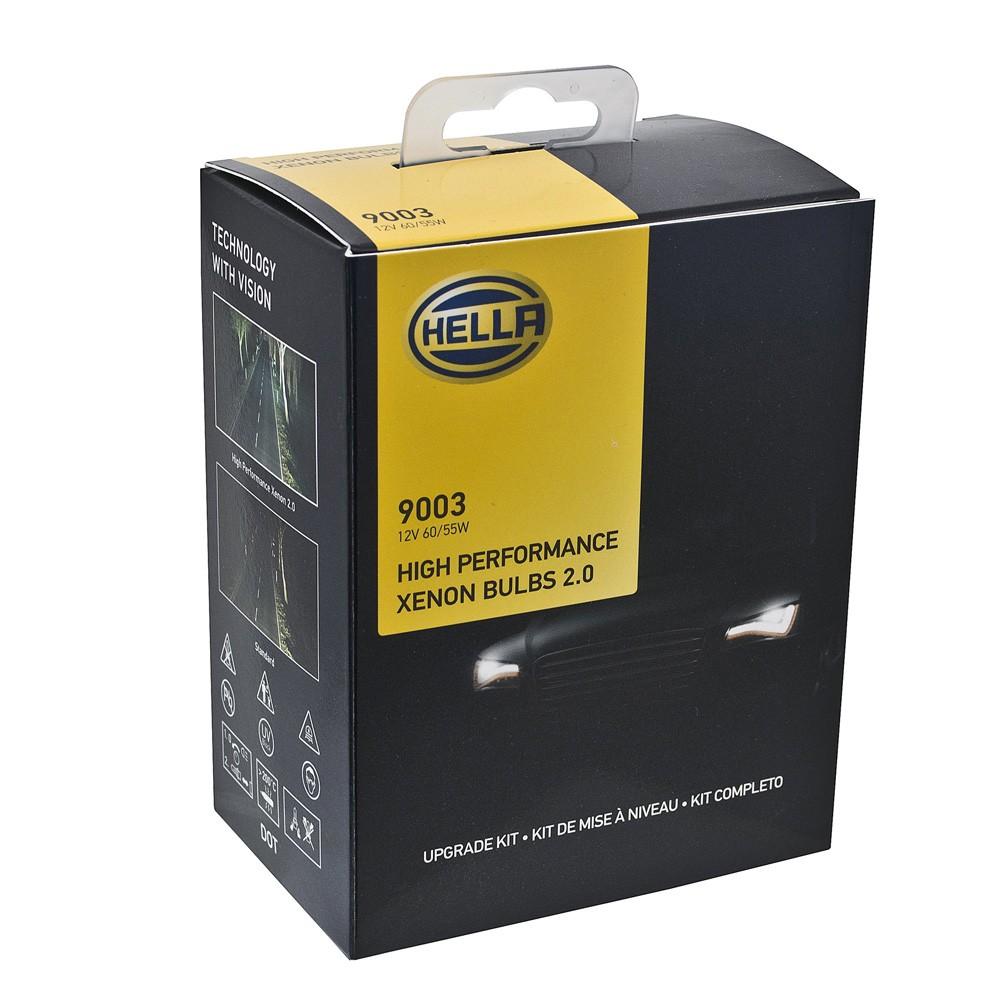 Lâmpadas Hella High Performance 2.0 H4 12v 60/55 Watts Efeito Xenon  - Bunnitu Peças e Acessórios