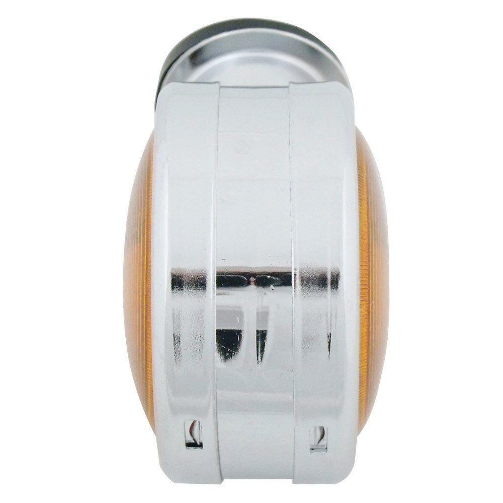 Lanterna adaptação cromada com lente ambar modelo bojuda  - Bunnitu Peças e Acessórios