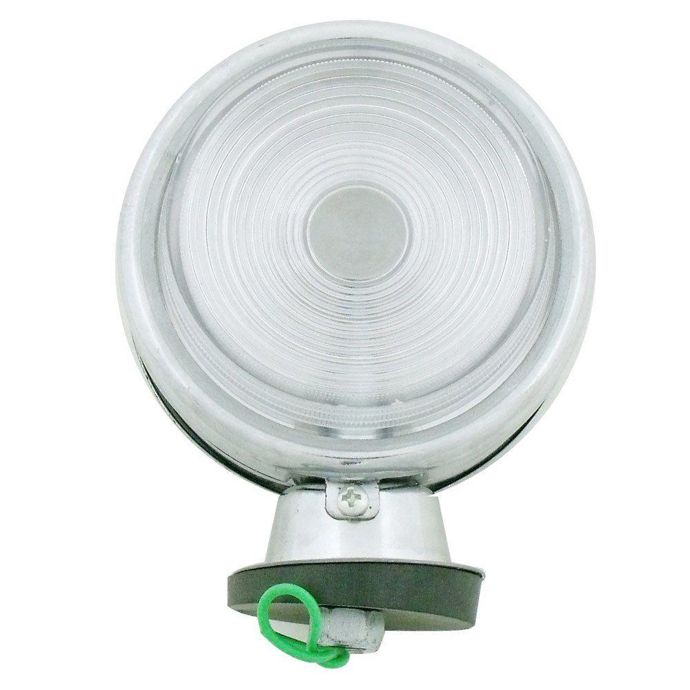 Lanterna adaptação cromada com lente cristal modelo Pirulito  - Bunnitu Peças e Acessórios