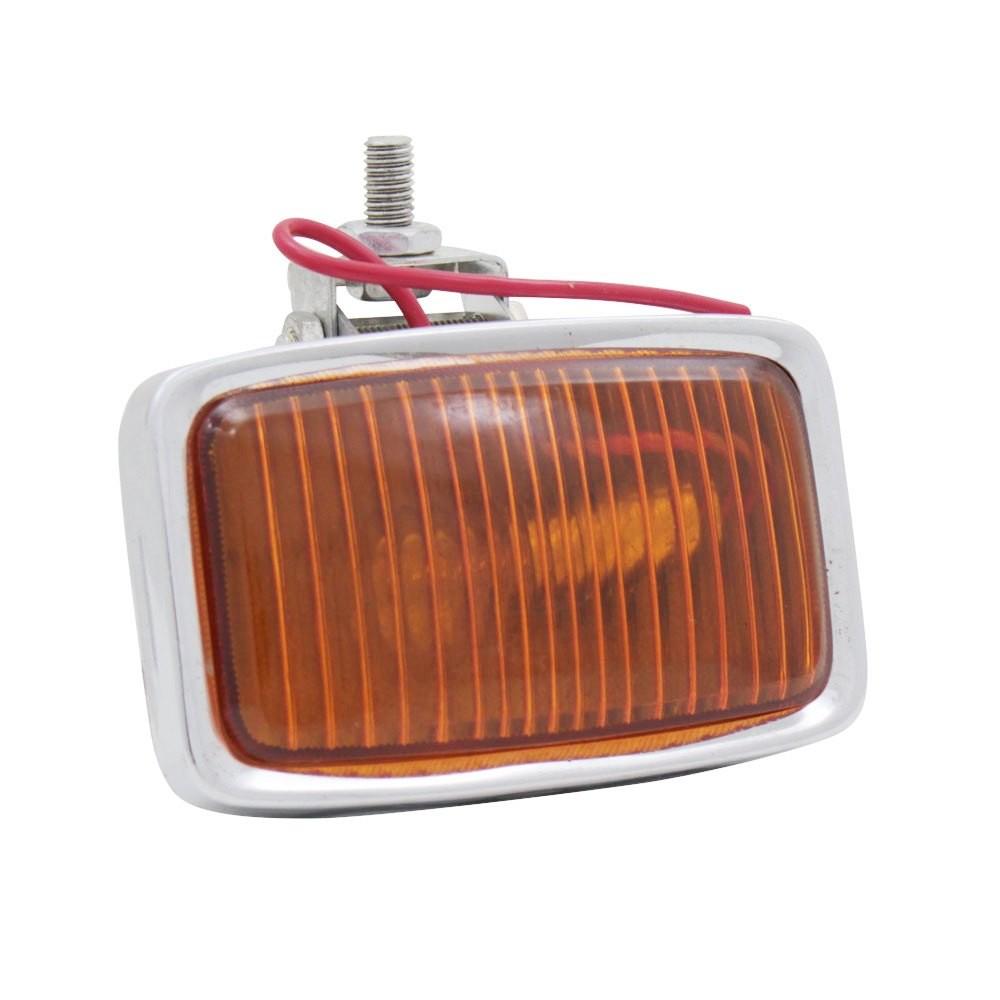 Lanterna aplicação universal com lente âmbar  - Bunnitu Peças e Acessórios