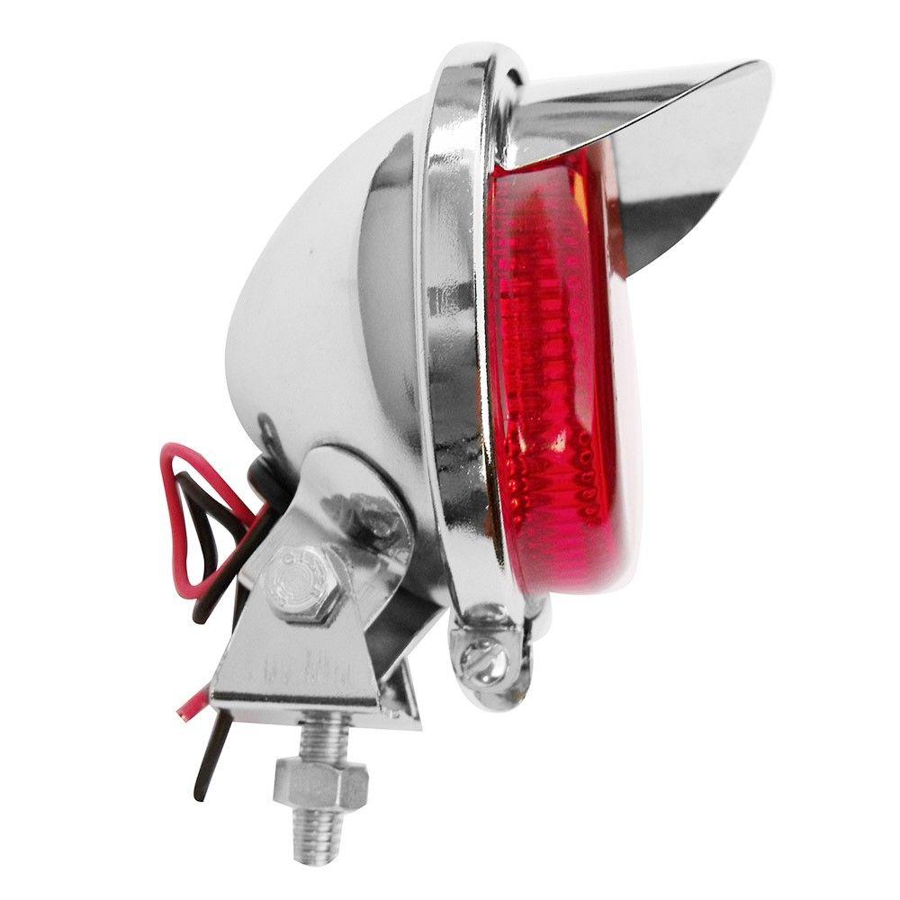 Lanterna auxiliar luz de freio modelo cromado com pestana  - Bunnitu Peças e Acessórios