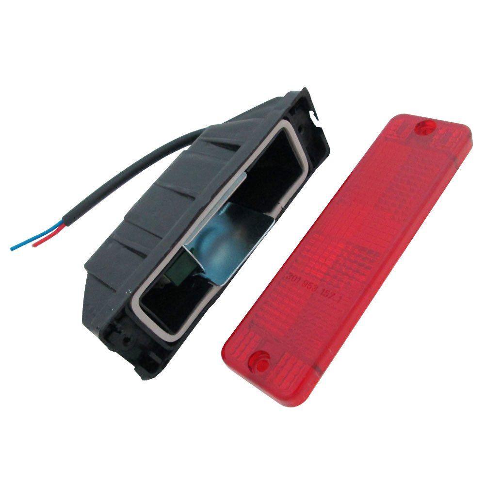 Lanterna de pisca com lente vermelha para VW Brasilia e Variant  - Bunnitu Peças e Acessórios