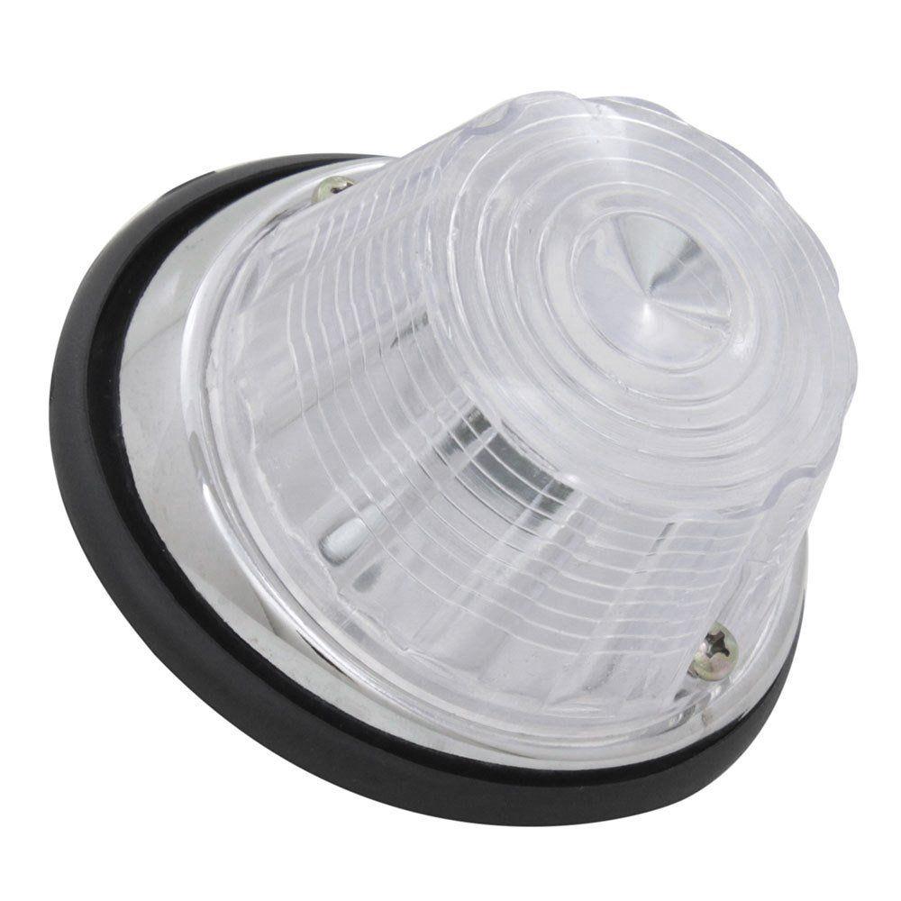 Lanterna de pisca cromada e lente cristal para GM Camionete Chevrolet 1964  - Bunnitu Peças e Acessórios