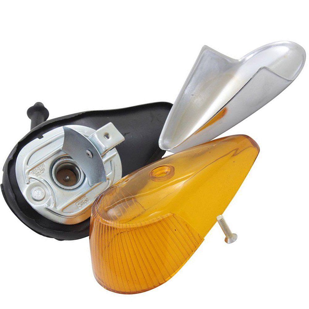 Lanterna de pisca dianteiro âmbar para VW Fusca após 1970  - Bunnitu Peças e Acessórios
