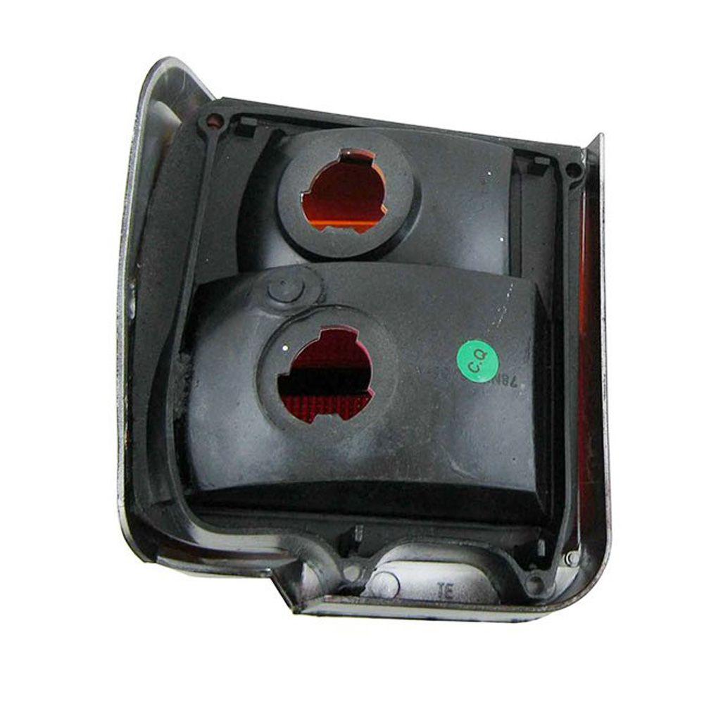 Lanterna traseira acrílica âmbar canto para Ford Belina 1983 à 1991 - Lado do Passageiro  - Bunnitu Peças e Acessórios