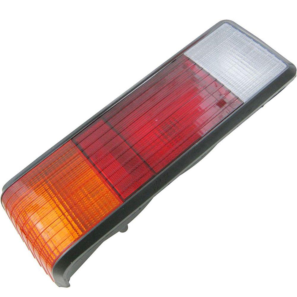 Lanterna traseira acrílica âmbar frisada para Ford Corcel 2 1980 à 1984 - Lado do Motorista  - Bunnitu Peças e Acessórios