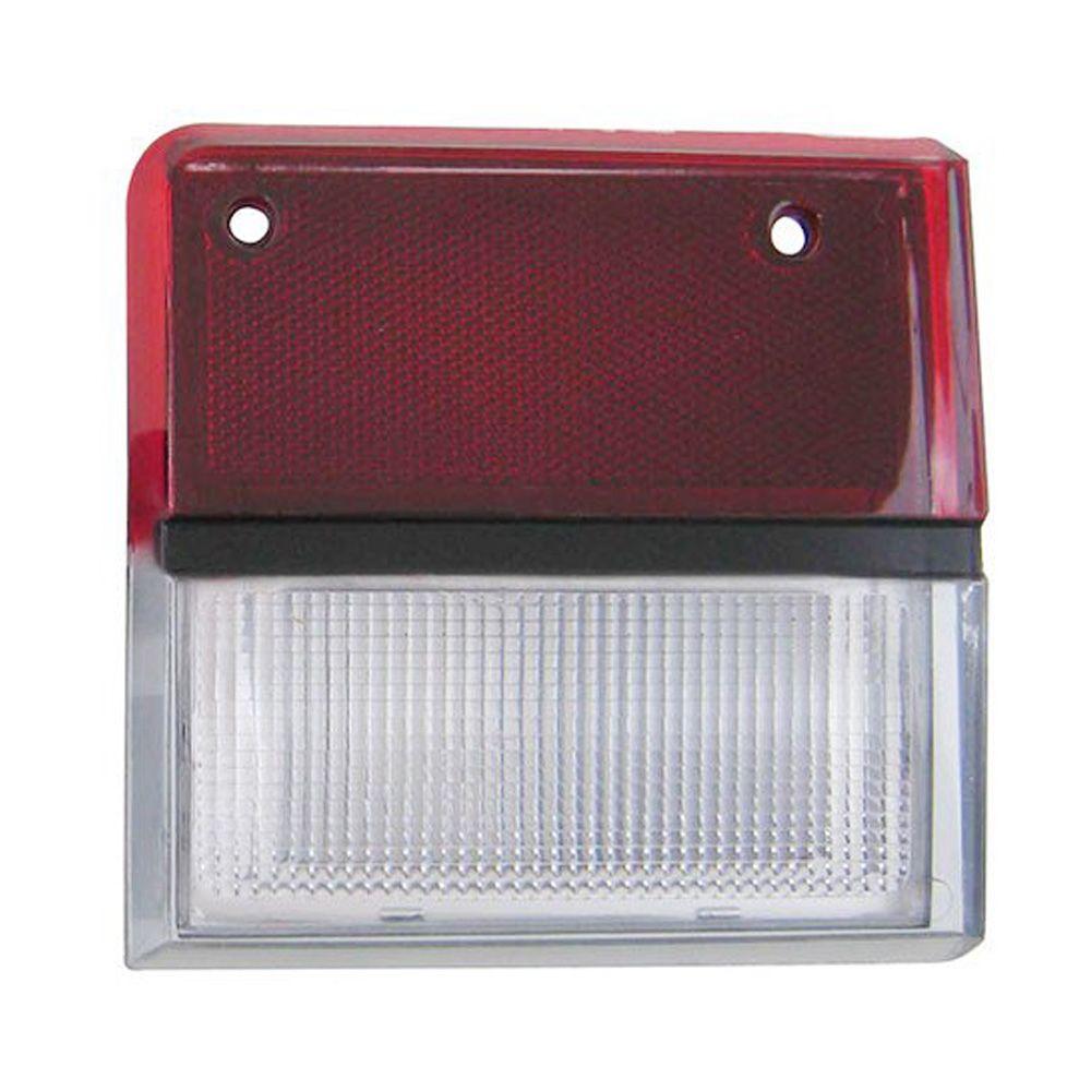 Lanterna traseira acrílica reta rubi com ré cristal para Ford Belina 1983 à 1991 - Lado do Motorista  - Bunnitu Peças e Acessórios