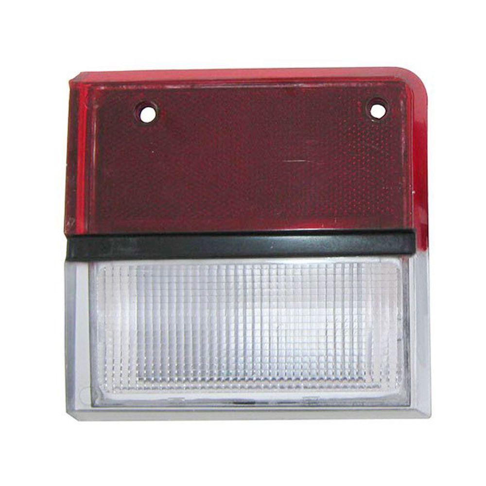 Lanterna traseira acrílica reta rubi com ré cristal para Ford Belina 1983 à 1991 - Lado do Passageiro  - Bunnitu Peças e Acessórios