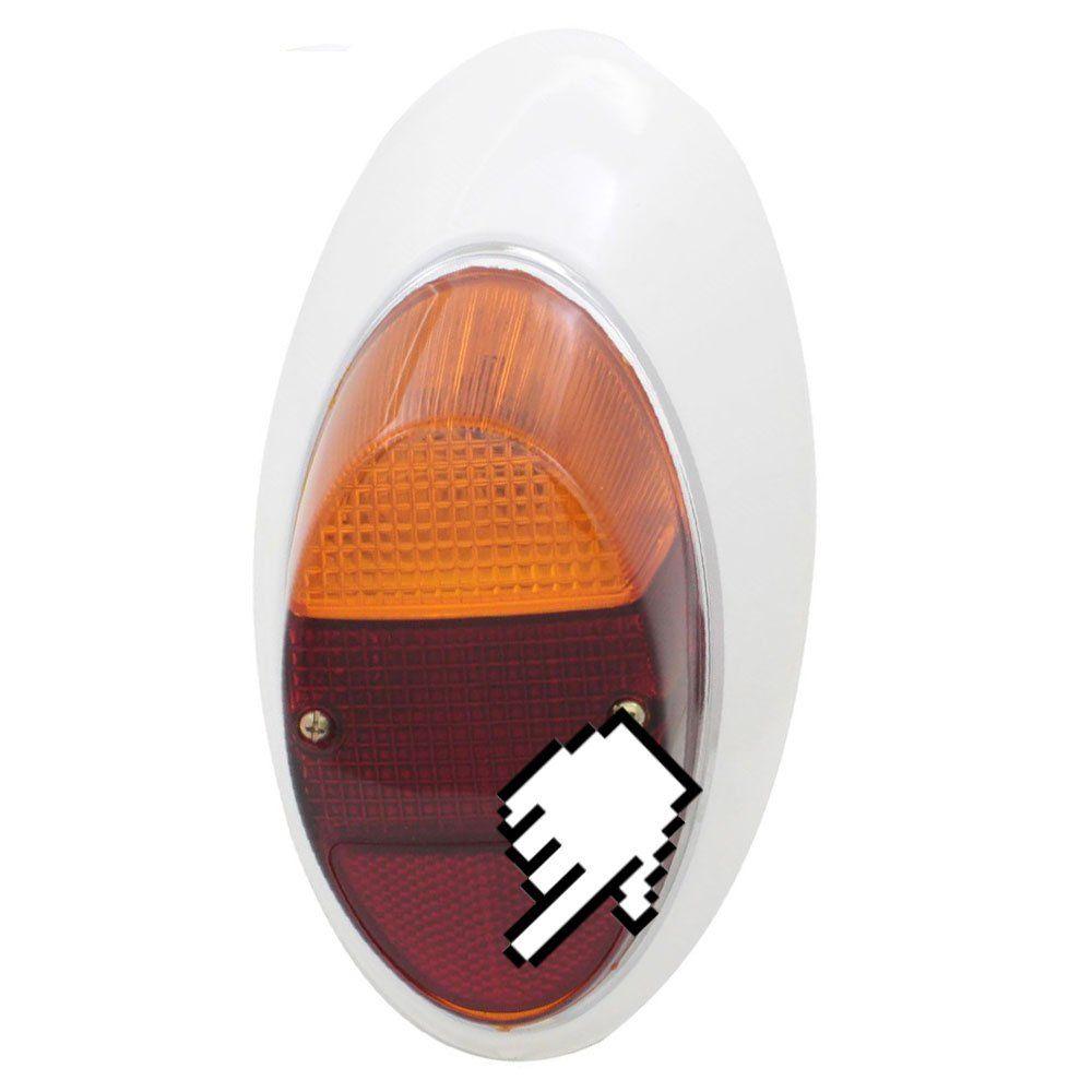 Lanterna traseira bicolor para VW Fusca 1200 1300 - Lado do Passageiro  - Bunnitu Peças e Acessórios