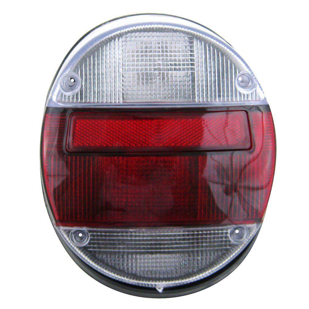 Lanterna traseira modelo rubi cristal VW Fusca 76 77 78 79 80 81 82 83 84 85 86 87 88 89 90 91 92 93 94 95 96  - Bunnitu Peças e Acessórios