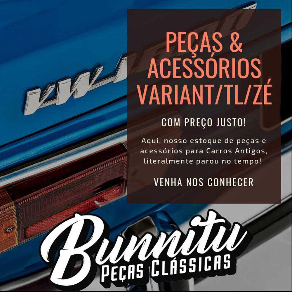 Lanterna traseira modelo ambar em acrílico VW Brasília 1978 à 1982 e Variant 2  - Bunnitu Peças e Acessórios